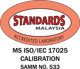 MS ISO/IEC 17025 Calibration SAMM No.533 ISO Certified Lab, SST Calibration Certificate